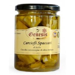 Carciofi spaccati in olio extravergine di oliva