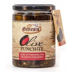 """Olive """"Punciute"""" olio extra vergine di oliva"""